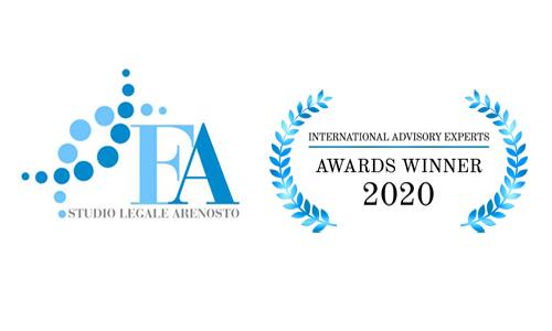 Logo studio legale Arenosto e premio 2020